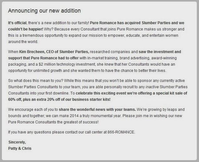 Slumber Parties Acquisition Founders Sale UPDATE 2